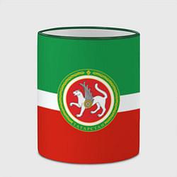 Кружка 3D Татарстан: флаг цвета 3D-зеленый кант — фото 2