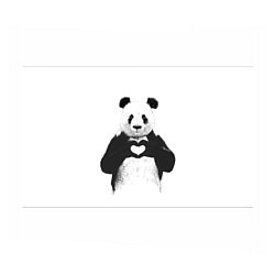 Бумага для упаковки Panda Love цвета 3D-принт — фото 1