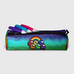 Пенал для ручек Among Us Радуга цвета 3D-принт — фото 2