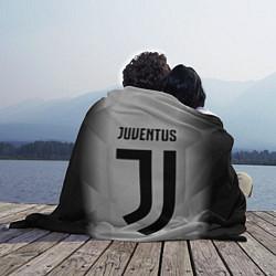 Плед флисовый FC Juventus: Silver Original цвета 3D-принт — фото 2