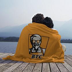 Плед флисовый BTC vs KFC цвета 3D — фото 2