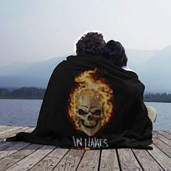 Плед флисовый In Flames цвета 3D — фото 2