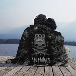 Плед флисовый In Flames: Skeleton King цвета 3D-принт — фото 2