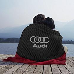 Плед флисовый Audi: Grey Carbon цвета 3D — фото 2