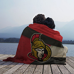 Плед флисовый HC Ottawa Senators: Old Style цвета 3D-принт — фото 2