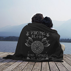 Плед флисовый Vikings Blood цвета 3D — фото 2