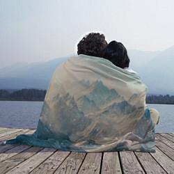 Плед флисовый Горы цвета 3D-принт — фото 2