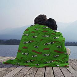 Плед флисовый Sad frogs цвета 3D-принт — фото 2