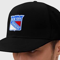 Кепка-снепбек New York Rangers цвета черный — фото 1