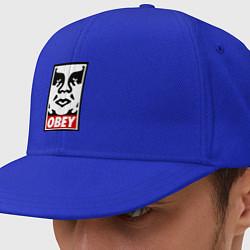 Кепка-снепбек OBEY Face цвета синий — фото 1