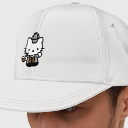 Кепка-снепбек Kitty Holmes цвета белый — фото 1