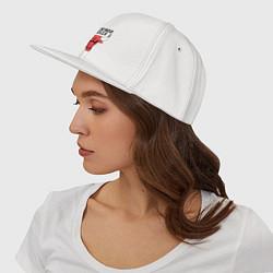 Кепка-снепбек Chicago Bulls цвета белый — фото 2