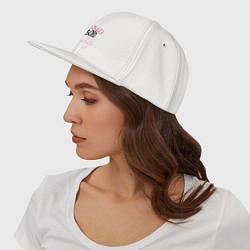 Кепка-снепбек Люблю свою жену цвета белый — фото 2
