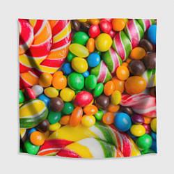 Скатерть для стола Сладкие конфетки цвета 3D — фото 1