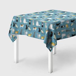 Скатерть для стола Породы кошек цвета 3D — фото 2