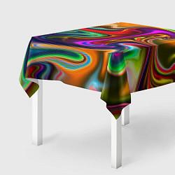 Скатерть для стола Неоновые разводы цвета 3D — фото 2