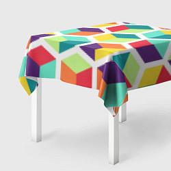 Скатерть для стола 3D кубы цвета 3D — фото 2