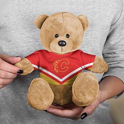Игрушка-медвежонок NHL: Calgary Flames цвета 3D-коричневый — фото 2