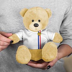 Игрушка-медвежонок Франция: лента с гербом цвета 3D-желтый — фото 2
