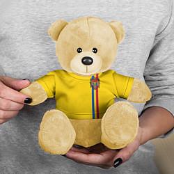 Игрушка-медвежонок Молдавия: лента с гербом цвета 3D-желтый — фото 2