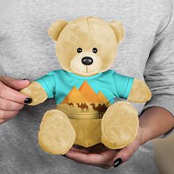 Игрушка-медвежонок Пирамиды Египта цвета 3D-желтый — фото 2