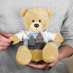 Игрушка-медвежонок Амстердам цвета 3D-желтый — фото 2