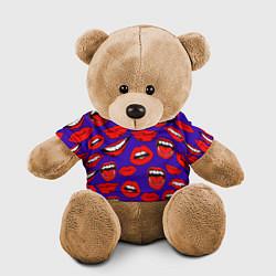 Игрушка-медвежонок Губы цвета 3D-коричневый — фото 1