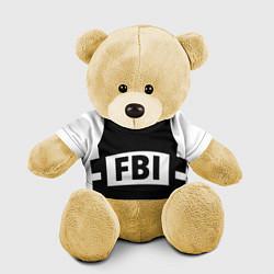 Игрушка-медвежонок Бронежилет FBI цвета 3D-желтый — фото 1