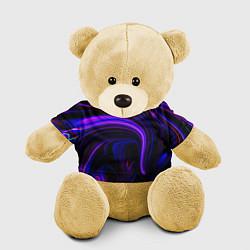 Игрушка-медвежонок Цветные разводы цвета 3D-желтый — фото 1