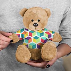 Игрушка-медвежонок 3D кубы цвета 3D-коричневый — фото 2