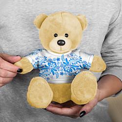 Игрушка-медвежонок Гжель цвета 3D-желтый — фото 2