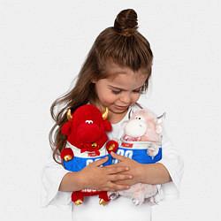 Игрушка-бычок Russia: from 89 цвета 3D-красный — фото 2