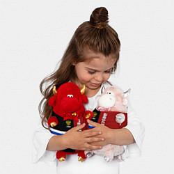 Игрушка-бычок Moscow, Russia цвета 3D-красный — фото 2