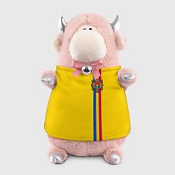 Игрушка-бычок Молдавия: лента с гербом цвета 3D-светло-розовый — фото 1