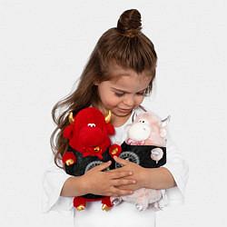 Игрушка-бычок Рог Одина цвета 3D-красный — фото 2