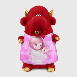 Игрушка-бычок Урарака Очако цвета 3D-красный — фото 1