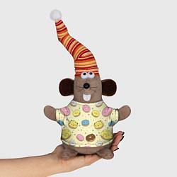 Игрушка-мышка Сладкие пончики цвета 3D-серый — фото 1