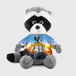 Игрушка-енот PUBG Wars цвета 3D-серый — фото 1
