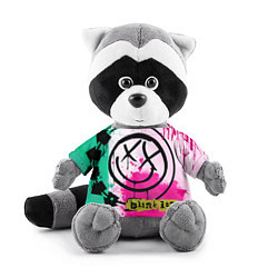 Игрушка-енот Blink-182: Purple Smile цвета 3D-серый — фото 1