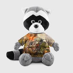Игрушка-енот День победы цвета 3D-серый — фото 1