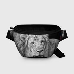 Поясная сумка Милый лев цвета 3D-принт — фото 1