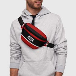 Поясная сумка IKON Stripes цвета 3D-принт — фото 2