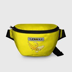 Поясная сумка Brazzers: Yellow Banana цвета 3D-принт — фото 1