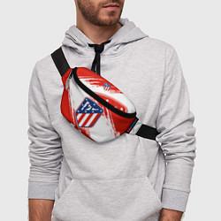 Поясная сумка ФК Атлетико Мадрид цвета 3D-принт — фото 2