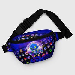 Поясная сумка BRAWL STARS LEON WOLF цвета 3D-принт — фото 2