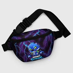 Поясная сумка Brawl Stars LEON цвета 3D-принт — фото 2
