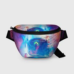 Поясная сумка Космонавт - космос цвета 3D — фото 1