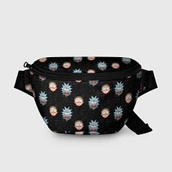 Поясная сумка Rick and Morty World цвета 3D-принт — фото 1