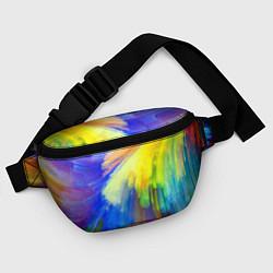 Поясная сумка Абстракция красок цвета 3D — фото 2