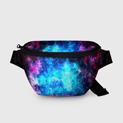 Поясная сумка Голубая вселенная цвета 3D — фото 1